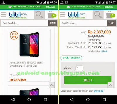 Beli ASUS ZenFone 2 di blibli.com lebih murah