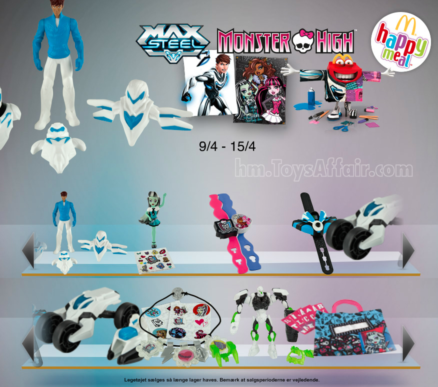 Max Steel & Monster High – Happy Meal Toys