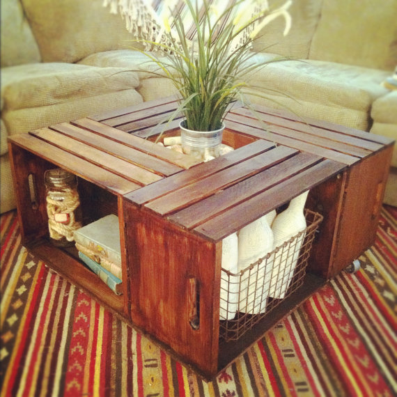 Rustic Crate Table By TheArticle Via Etsy