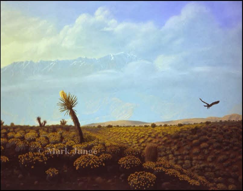 desert,Mount San Jacinto,Palm Springs,golden eagle,yucca,brittlebush,encelia