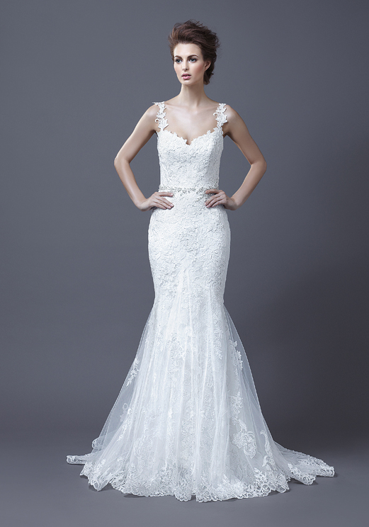 Lace Mermaid Straps Wedding Dress