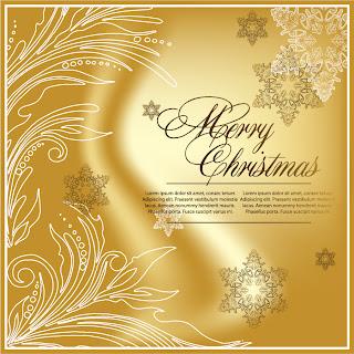 金色に輝くクリスマスの背景 beautiful christmas background vector イラスト素材2