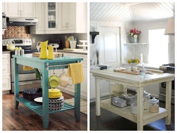 Islas de cocina kitchen island decoraci n for Muebles de cocina islas con ruedas