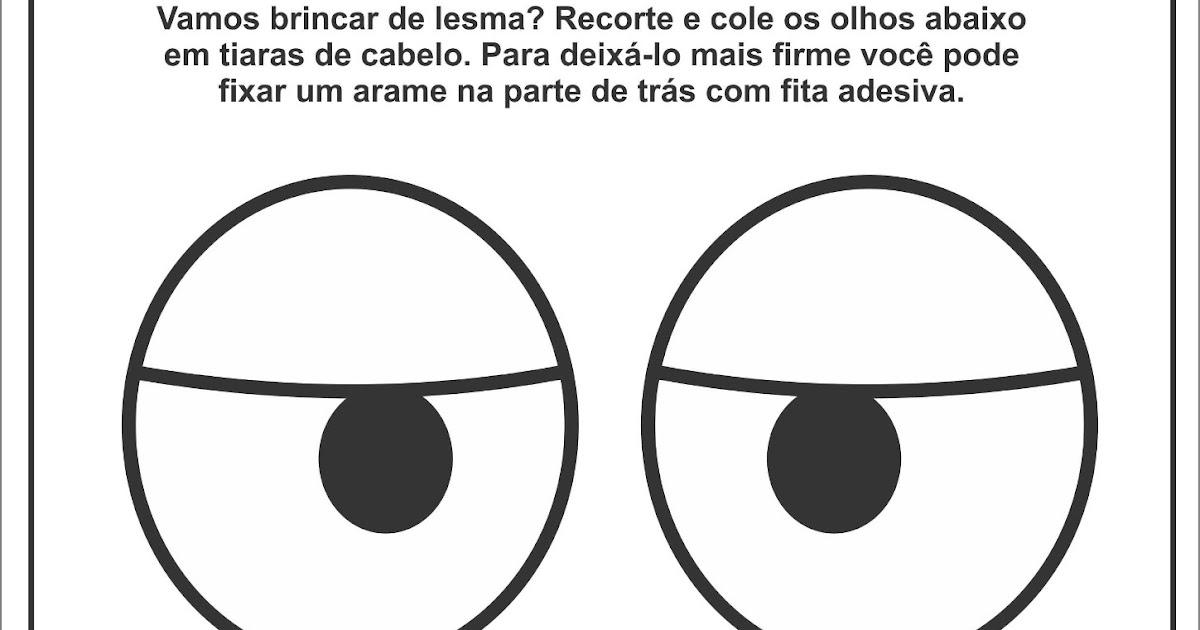 Baú do Rena: Atividade Olhos de Lesma