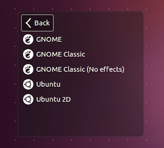Unity Greeter session chooser dialog