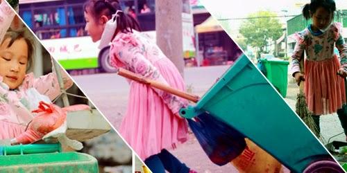 Panen Pujian Gadis Cilik Penjaga Kebersihan Kota Karena Membantu Nenek