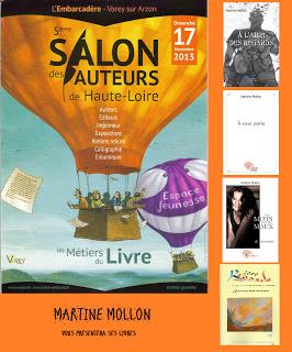 5ème SALON DES AUTEURS DE LA HAUTE-LOIRE 17 novembre 2013 Vorey-sur-Arzon