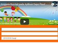 Video Tutorial Cara Pengisian Anggota Rombel pada Aplikasi Dapodik Paud Dikmas