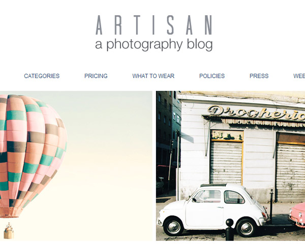 Cool photo blog and portfolio blog blogger templates