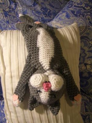 Crochet Parfait Laid Back Cat Amigurumi