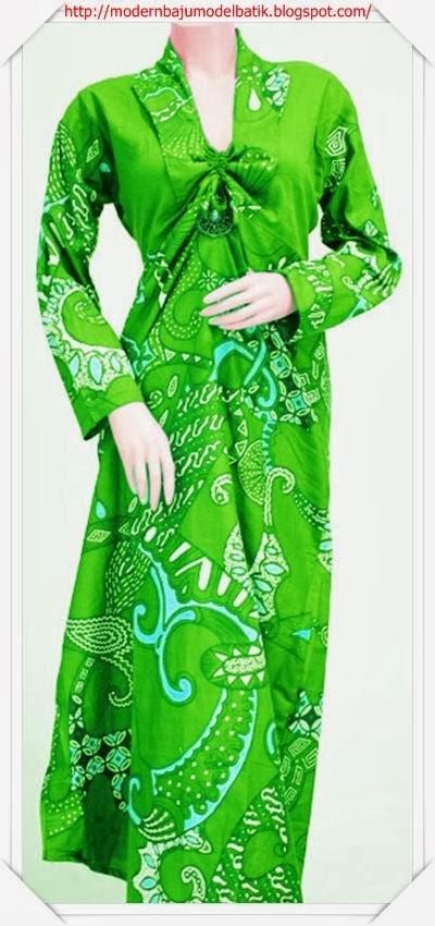 Modern Dan Terbaru Model Baju Gamis Batik Banyak Warna