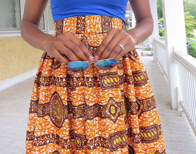 Colorful Ankara Maxi Skirt