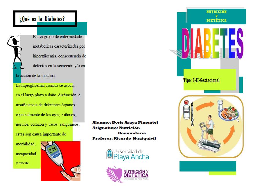 Aprendiendo sobre diabetes: Tríptico sobre Diabetes