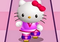 Hello Kitty Roller Race is a fun sport game on skates, if you enjoyed Hello Kitty Roller rescue, where you had to rescue Kitty's friends in the streets of Sanriotown certainly enjoy a fast race on a skating rink. Alternately press the Z and X keys as quickly as you can to beat your two computer-controlled opponents to end of the track. Choose which character you want to play, you can choose to Hello Kitty, Melody, Monkichi, Badtz, Mimmy and Keroppi.