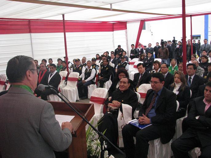 Se inauguro juzgado de paz letrado en comisaria de la for Foto del ministro del interior