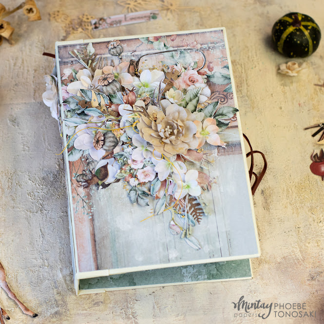 Autumn Tag Album with Mintay Papers