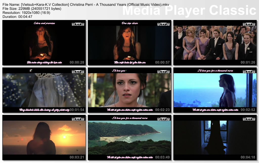 Christina Perri - A Thousand Years | Music Video, Song ...