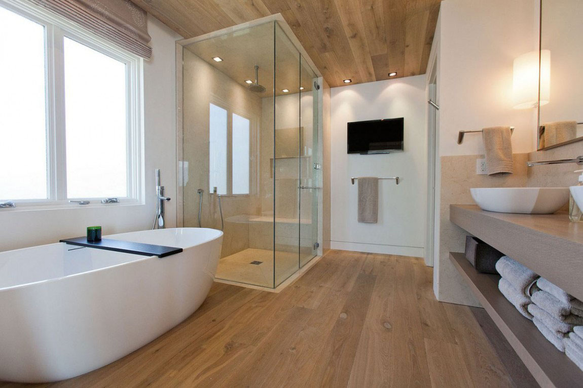 http://3.bp.blogspot.com/-bGkXpMqIIJA/VqpYzP5_sHI/AAAAAAAAAFI/gCFc7H_wcag/s1600/contemporary-bathrooms-ideas-in-modern-theme-with-brown-brick-pattern-parquet-and-white-wall-combined-with-white-bath-tub-and-walk-in-shower-with-transparant-glass-enclosure-also-a-television.jpg