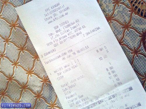 Review KFC Wasabi Rice Wrap