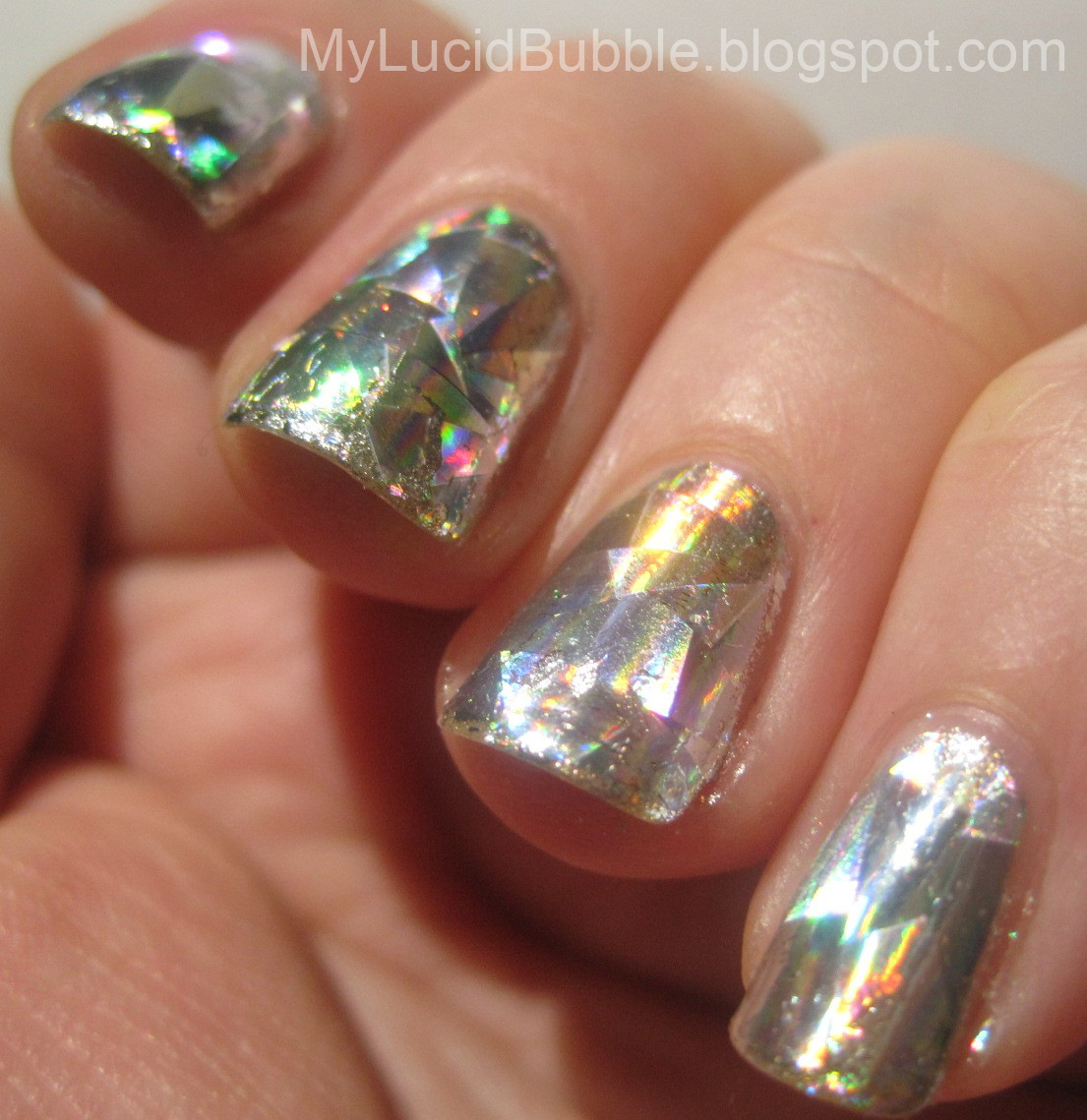 A Topcoat (That Works!) For Nail Foils | My Lucid Bubble