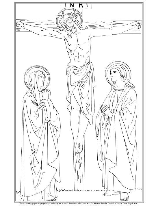 La Crucifixión y Muerte de Nuestro Señor colorear