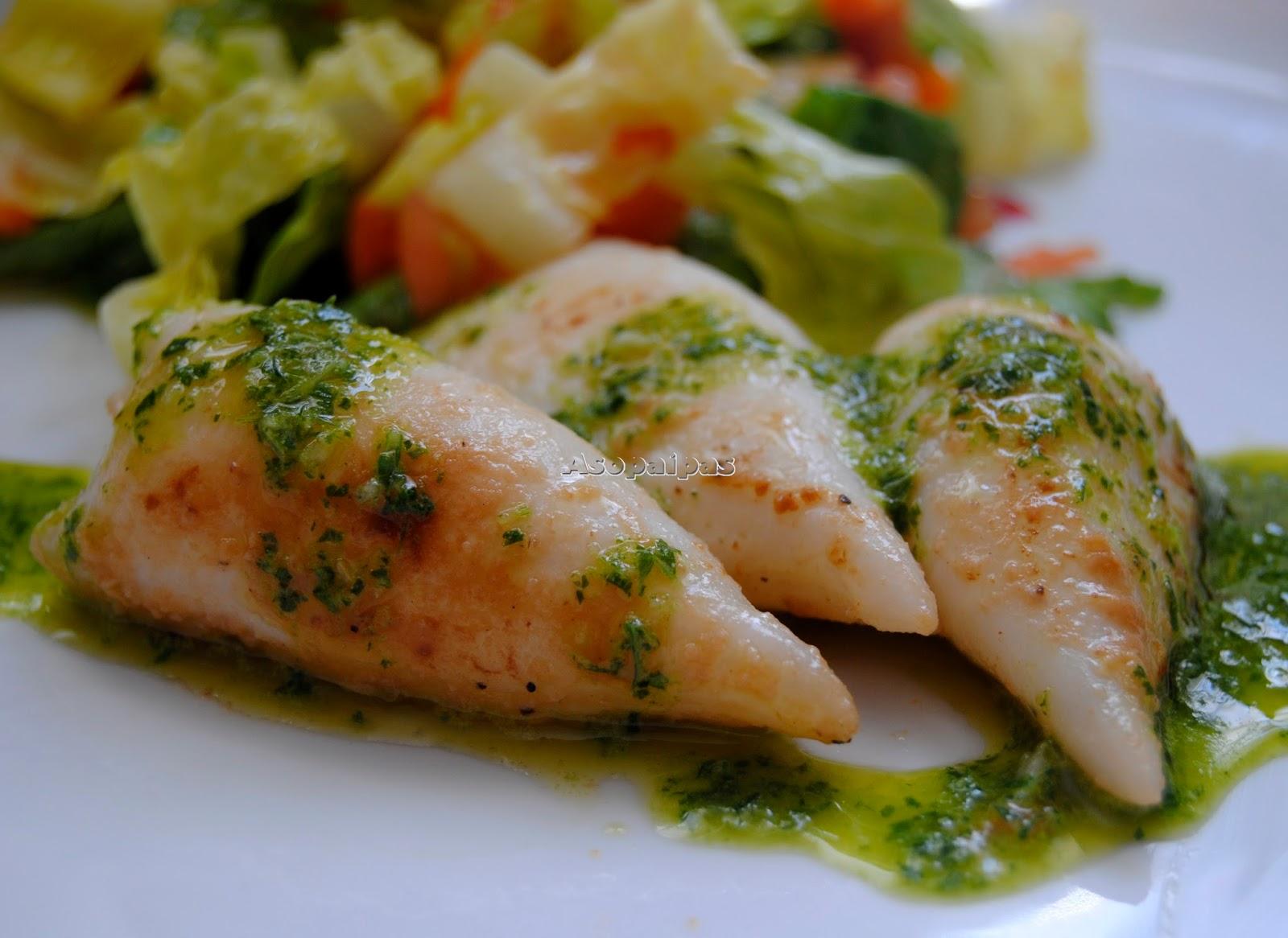 Chipirones a la plancha con salsa verde receta asopaipas recetas de cocina casera - Chipiron a la plancha ...