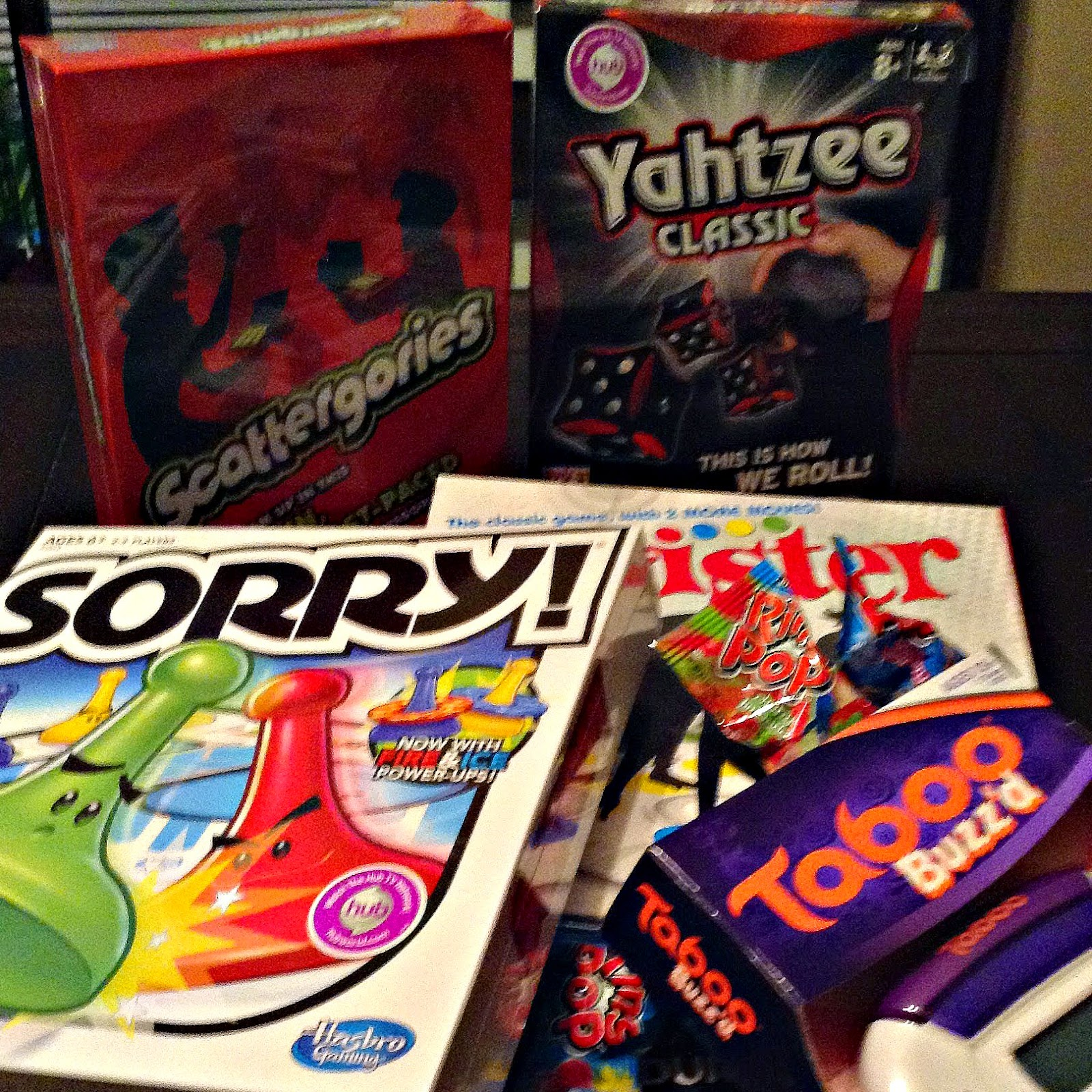 Hasbro Games - Scattergories, Yahtzee, Sorry!, Taboo Buzzd, Twister