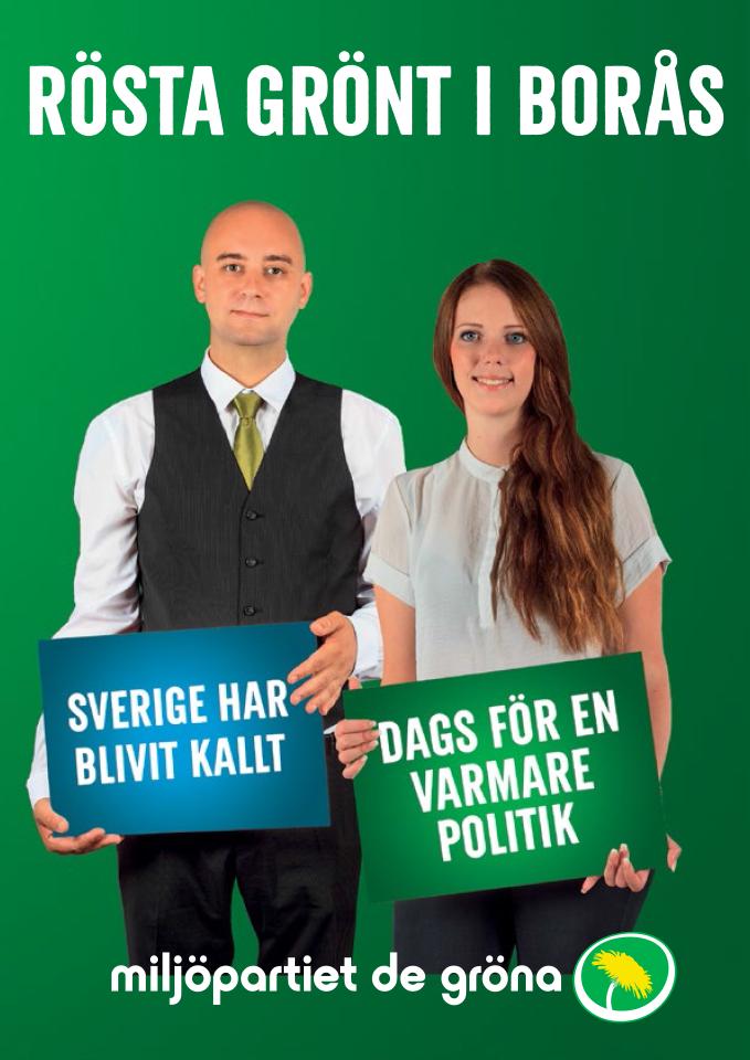 Rösta grönt i Borås för en politik för en hållbar mobilitet