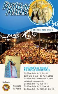 Horários das Missas Na Festa da Penha 2012
