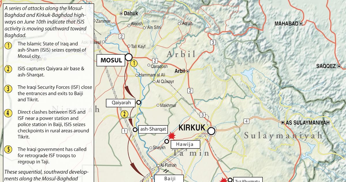 ISW Blog: ISIS Activity in Mosul and Beyond