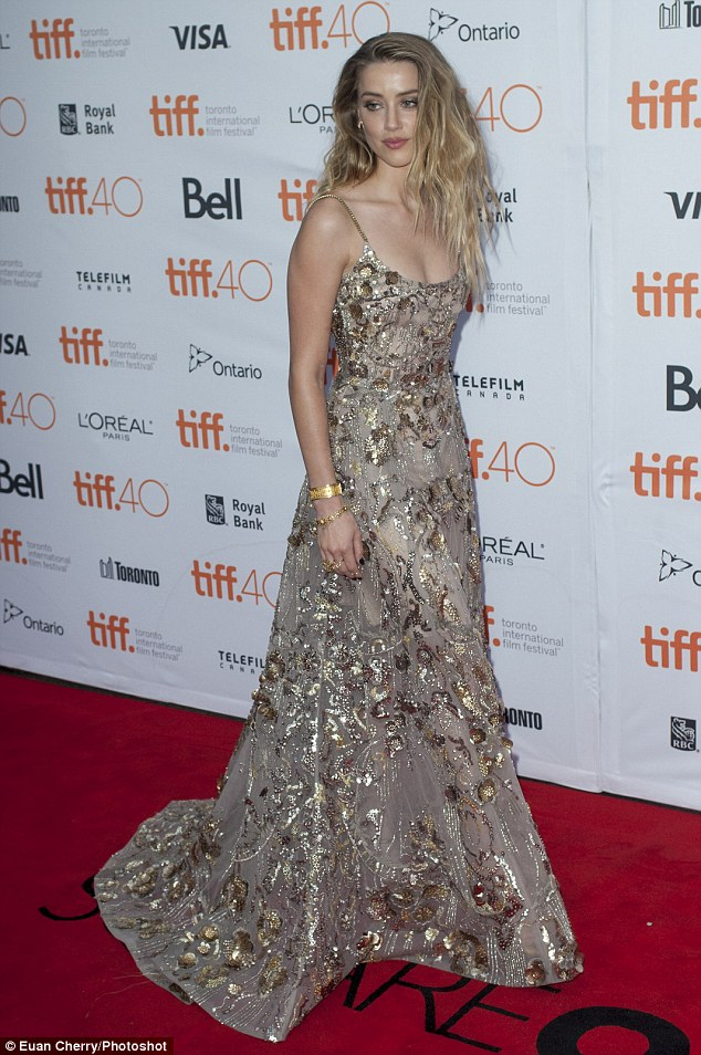 Amber Heard at the Toronto International Film festival 2015