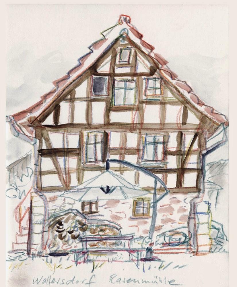 Detlef surrey skizzenblog for Fachwerkhaus skizze