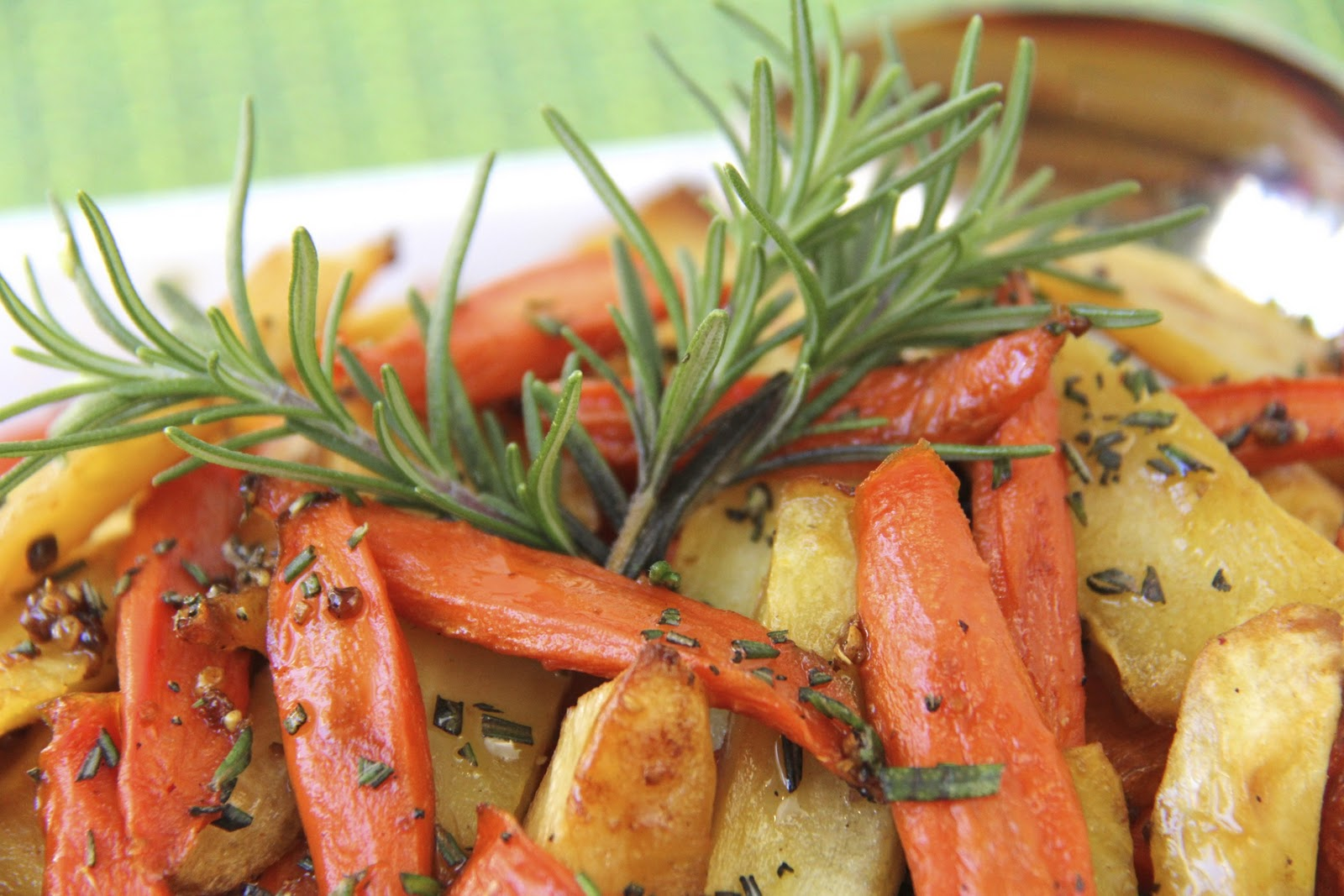 The Café Sucré Farine: Simple Sticky Roasted Rosemary Root Veggies