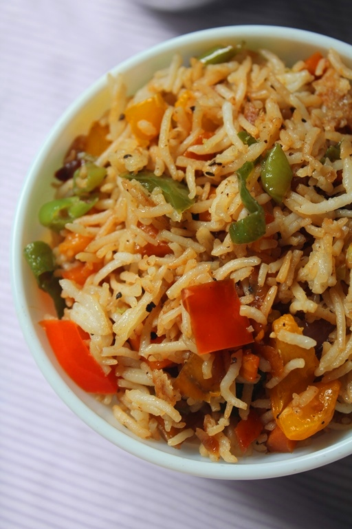 how to prepare vegetable fried rice at home