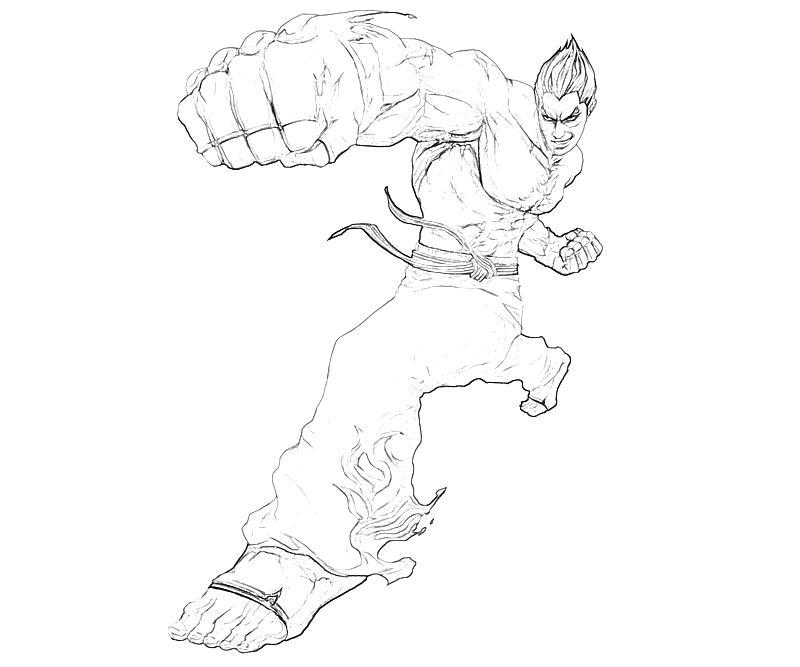 printable-tekken-kazuya-mishima-character-coloring-pages