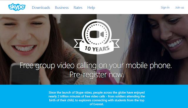 videollamadas grupales skype pre-registro