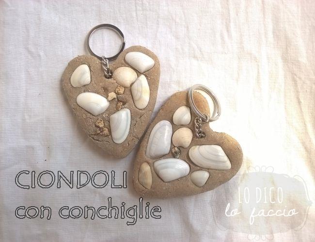Préférence Come fare ciondoli con conchiglie e farina, #handmadesummer ~ Lo  QU53
