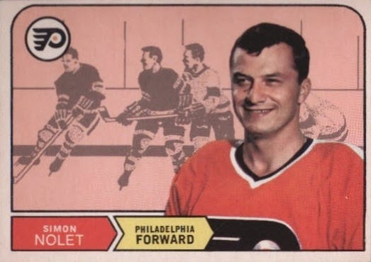 simon nolet philadelphia flyers rookie hockey card