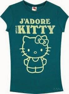 Gambar Baju Kaos Hello Kitty Lengan Pendek T-Shirt