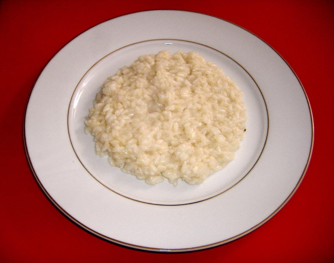 Cucinare le molecole risotto all acqua togliere per for Cucinare risotto