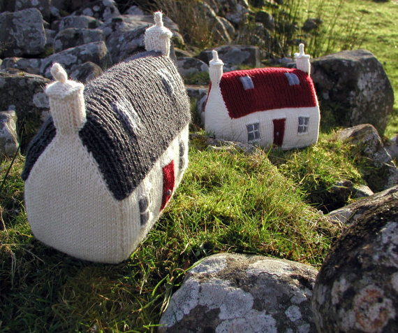 Knit your own house...PDF knitting pattern