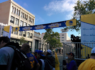 Warriors Parade Banner