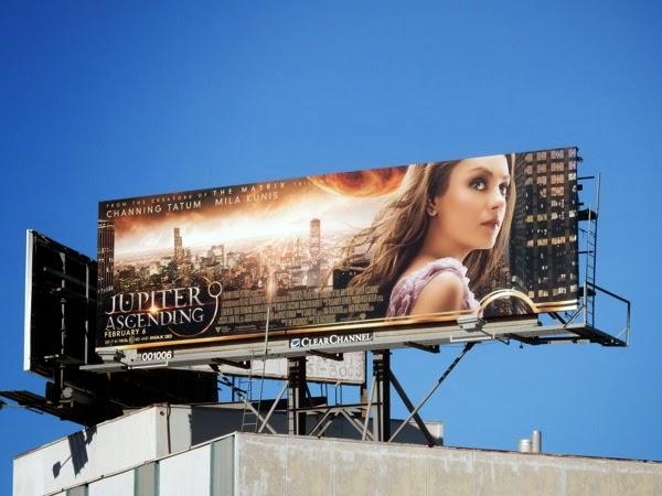 Mila Kunis Jupiter Ascending movie billboard