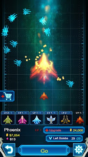 Screenshots of the Galaxy falcon for Android tablet, phone.