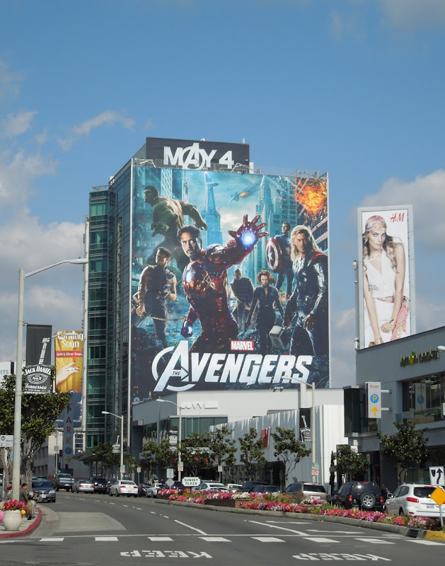 Giant Avengers billboard