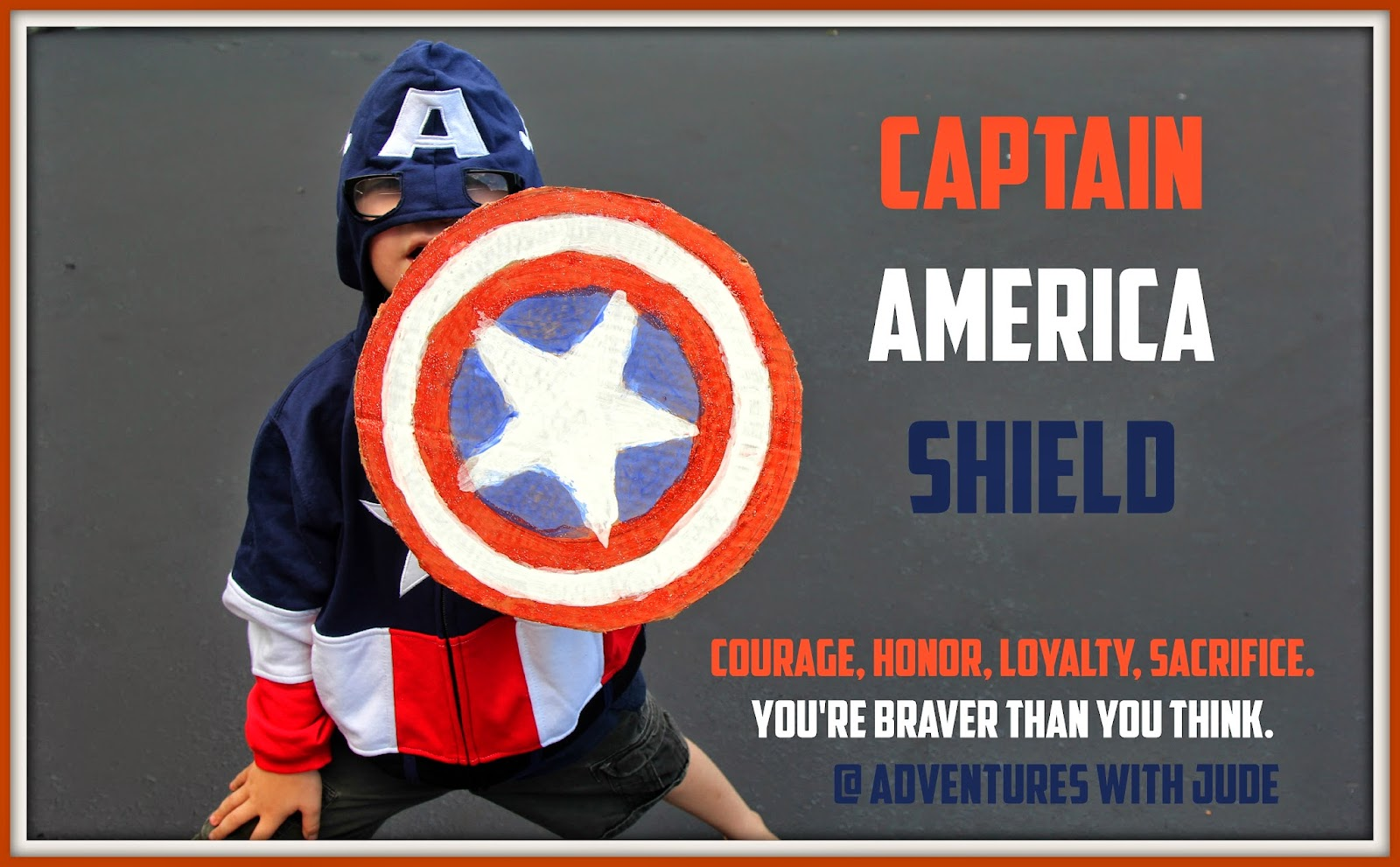 Captain America Shield With Printable Star Template