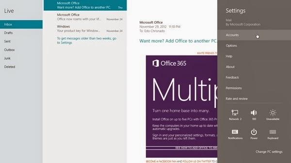Cara Menambahkan Akun Email Di Aplikasi Mail Windows 8