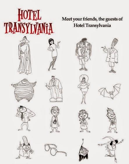 Hotel Transylvania para pintar colorear e emprimir