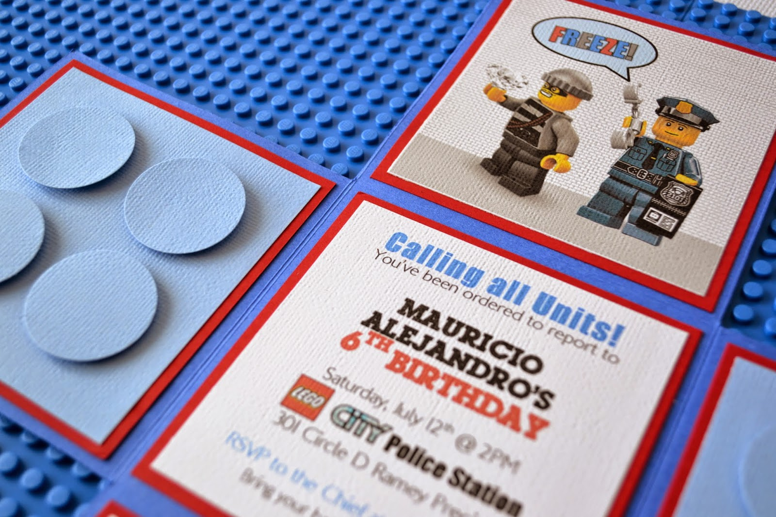 Partylicious LEGO City Police Birthday – Lego City Birthday Invitations