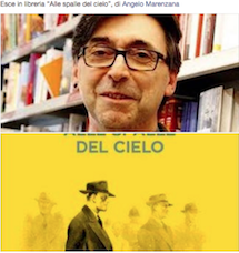 "Esce in libreria ""Alle spalle del cielo"", di Angelo Marenzana"